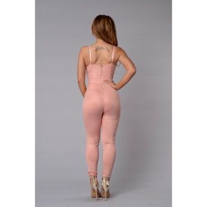 20f3ae6d91fb Fashion Nova Pants - Fashion Nova Rita Jumpsuit (Blush) New w  tags
